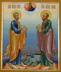 Петров пост соблюдается в память святых апостолов Петра и Павла